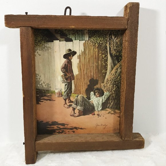 Vtg 70s Rustic Wall Art